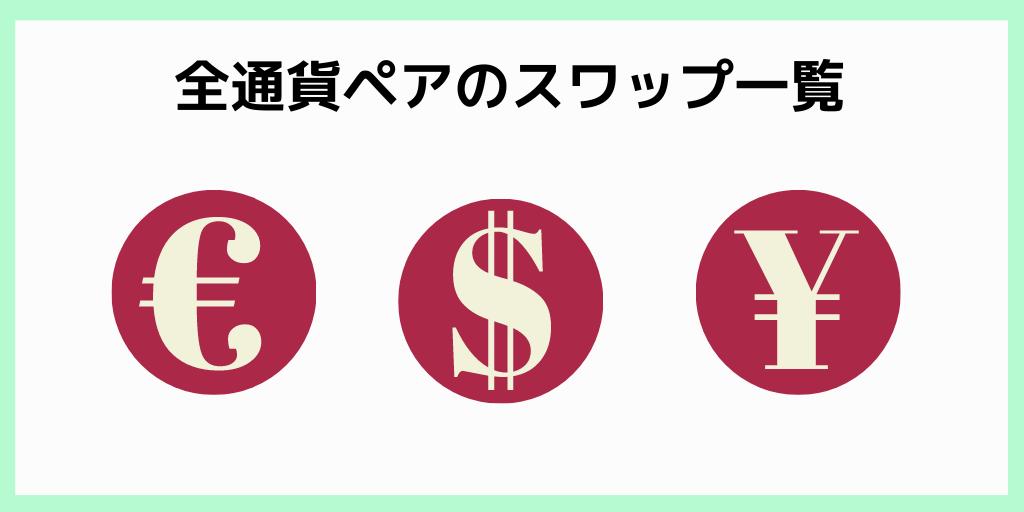 全通貨ペアのスワップ一覧