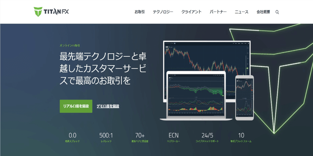 TitanFX ILC口座