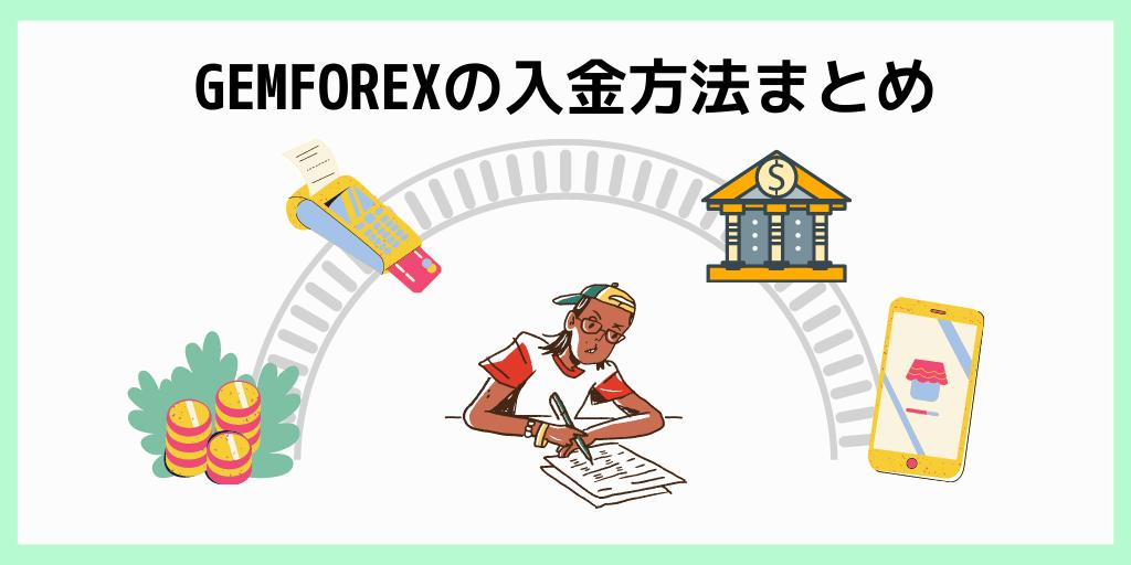 GEMFOREXの入金方法まとめ