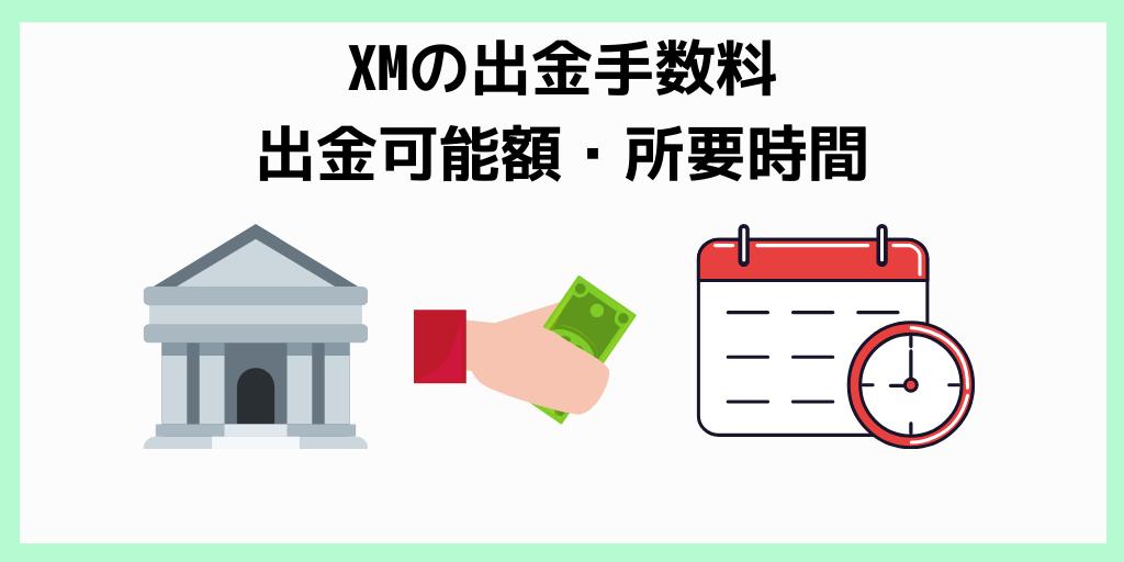 XMの出金手数料・出金可能額・所要時間