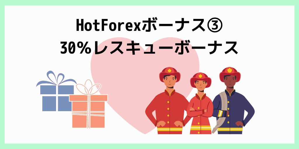 HotForexボーナス③30%レスキューボーナス