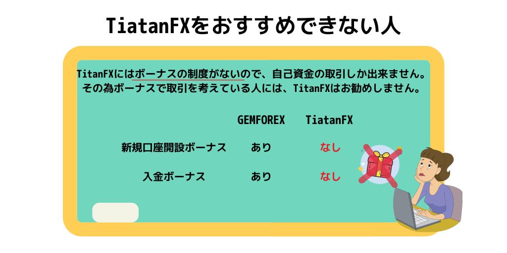 TitanFXをおすすめできない人