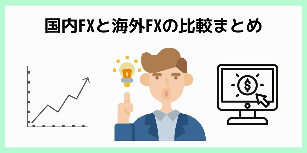 国内FXと海外FXの比較まとめ