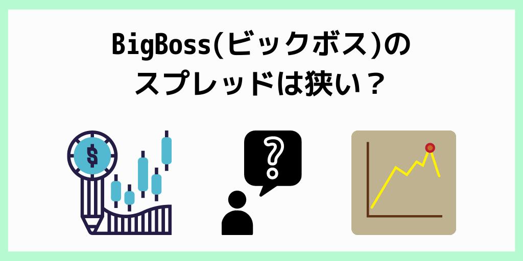 BigBoss(ビックボス)のスプレッドは狭い?